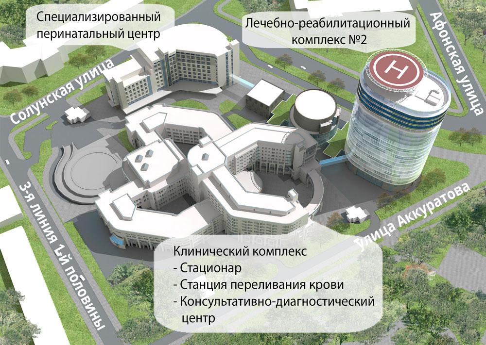 Корпуса зданий
