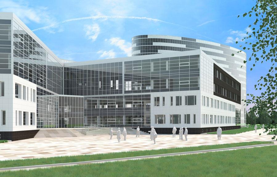 Научно-образовательный комплекс с общежитиями и административно-бытовым корпусом